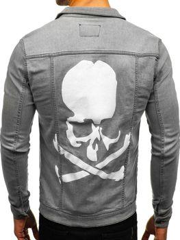 Куртка джинсова чоловіча сіра Bolf 2052