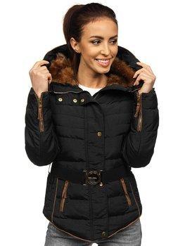 Куртка зимова жіноча чорна Bolf 11