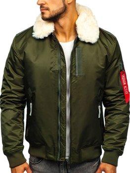 Куртка чоловіча демісезонна пілот зелена Bolf 1787