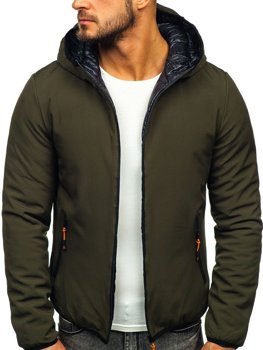 Куртка чоловіча зимова зелена Bolf R1271