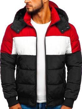 Куртка чоловіча зимова спортивна чорна Bolf Jk396