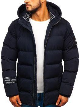Куртка чоловіча зимова темно-синя Bolf 5973