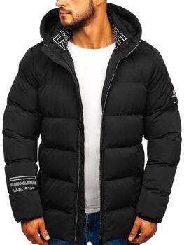 Куртка чоловіча зимова чорна Bolf 5973