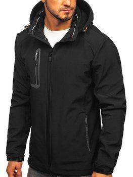 Куртка чоловіча софтшелл чорно-помаранчева Bolf 12267