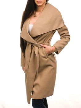 Подовжене жіноче пальто бежеве Bolf 1729 99c17d8b4f93c