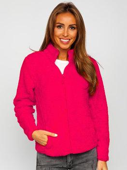 Рожева флісова жіноча куртка Bolf HH006