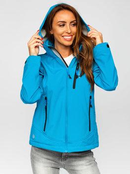 Синя куртка жіноча демісезонна куртка софтшелл Bolf AB003