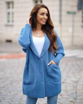 Синє жіноче пальто Bolf 7108
