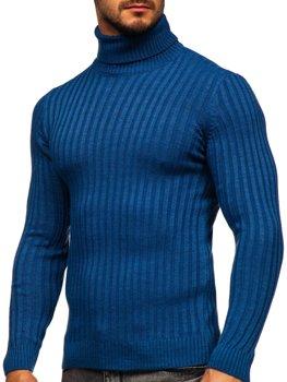 Синій чоловічий светр гольф Bolf 4602