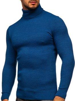 Синій чоловічий светр гольф Bolf 4607