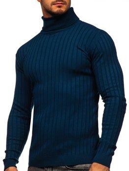 Синій чоловічий светр гольф Bolf 520