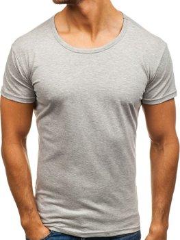 Антрацитова чоловіча футболка з принтом Bolf S039 СВІТЛО-ТЕМНО-СИНІЙ 66084ee8b9bd3