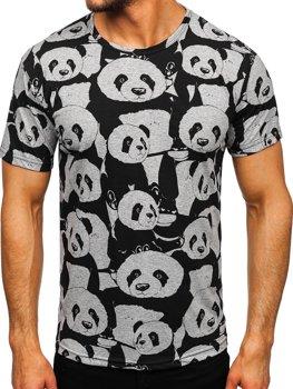 Сіра футболка чоловіча з принтом Bolf 14902