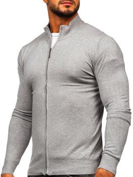 Сірий Чоловічий светр на блискавці Bolf YY07
