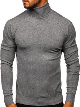 Сірий чоловічий светр гольф Bolf YY02