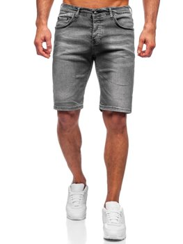 Сірі чоловічі джинсові шорти Bolf 3032