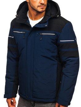 Темно-синя лижна куртка чоловіча зимова спортивна куртка Bolf BK114