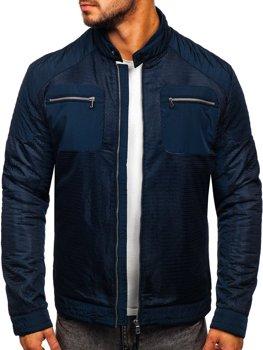 Темно-синя чоловіча демісезонна куртка Bolf 1702