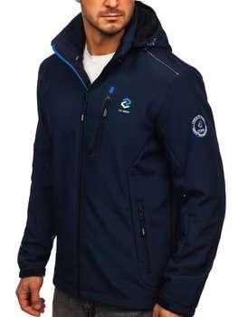 Темно-синя чоловіча куртка софтшелл Bolf BK118