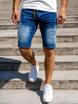Темно-сині джинсові шорти чоловічі Bolf R3004