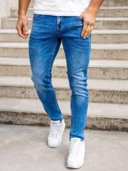 Темно-сині чоловічі джинсові джоггери skinny fit Bolf KX399