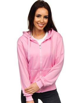 Толстовка жіноча з капюшоном світло-рожева Bolf WB1005