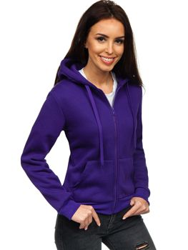 Толстовка жіноча з капюшоном фіолетова Bolf WB1005