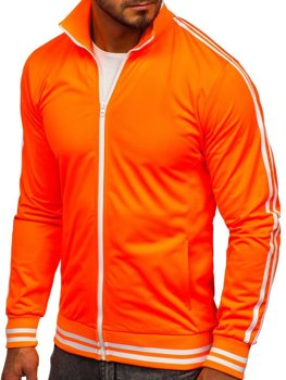 Толстовка чоловіча без капюшона ретро стиль помаранчева Bolf 11113