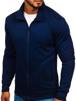 Толстовка чоловіча без капюшона темно-синя Bolf B002