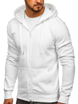 Толстовка чоловіча з капюшоном біла Bolf 2008