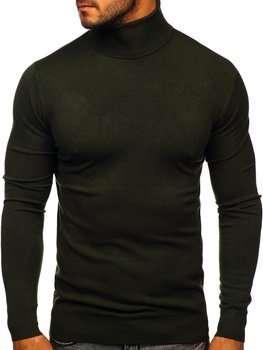 Хакі чоловічий светр гольф Bolf YY02