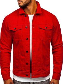 Червона чоловіча джинсова куртка Bolf XSF78204
