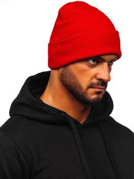 Червона чоловіча зимова шапка YW09004M