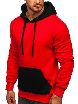 Червона чоловіча толстовка з капюшоном Bolf LM77001