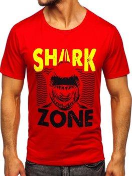 Червона чоловіча футболка з принтом Bolf KS2652