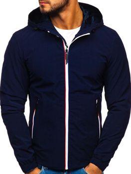 Чоловіча демісезонна куртка темно-синя Bolf 5683