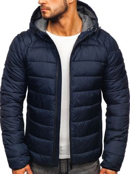 Чоловіча демісезонна куртка темно-синя Bolf B1270