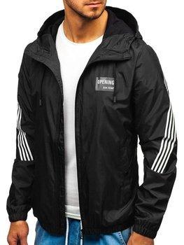 Чоловіча демісезонна куртка чорна Bolf 5687