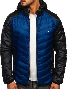 Чоловіча демісезонна спортивна куртка темно-синя Bolf 1905
