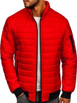 Чоловіча демісезонна спортивна куртка червона Bolf MY22