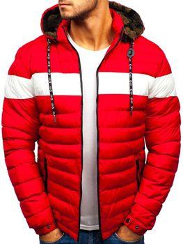 Чоловіча зимова куртка червона Bolf A410 608e7721e3bdc