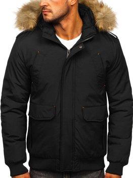 Чоловіча зимова куртка чорна Bolf 1770