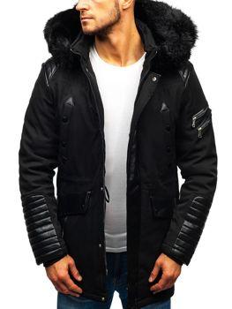 Чоловіча зимова куртка чорна Bolf 99111 353c603a1acb6