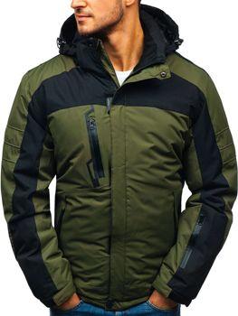 Чоловіча зимова лижна куртка зелена Bolf HZ8112