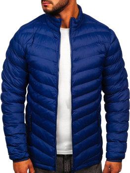 Чоловіча зимова спортивна куртка темно-синя Bolf SM70