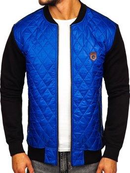 Чоловіча куртка-бомбер синій Bolf 2569-2