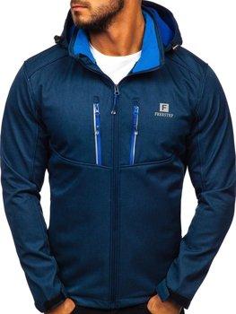 Чоловіча куртка софтшелл темно-синя Bolf AB008