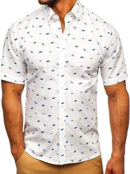 Чоловіча сорочка з візерунком з коротким рукавом мультиколор-2 Bolf TSK101
