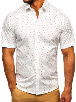 Чоловіча сорочка з візерунком з коротким рукавом мультиколор Bolf TSK101