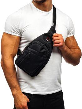 Чоловіча сумка через плече чорна Bolf T50
